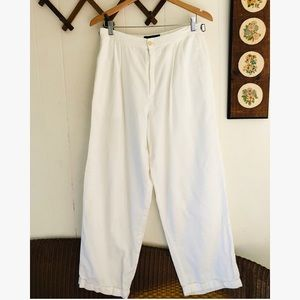 Ralph Lauren • High Waisted White Trousers